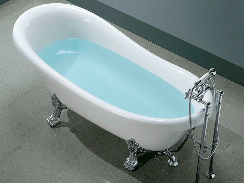 Classic style oval bathtub on legs OLD TIME - GRUPPO GEROMIN
