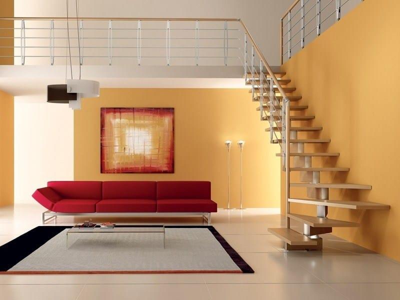Escalier ouvert quart tournant SPIRAL KNOCK WOOD by RINTAL design ...