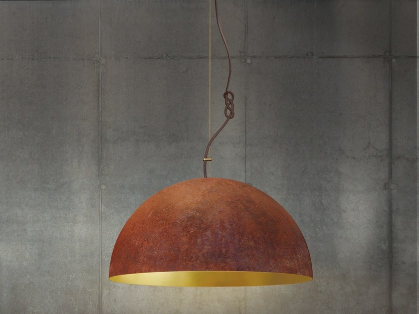 Handmade gold leaf pendant lamp THE QUEEN MEDIUM by Mammalampa