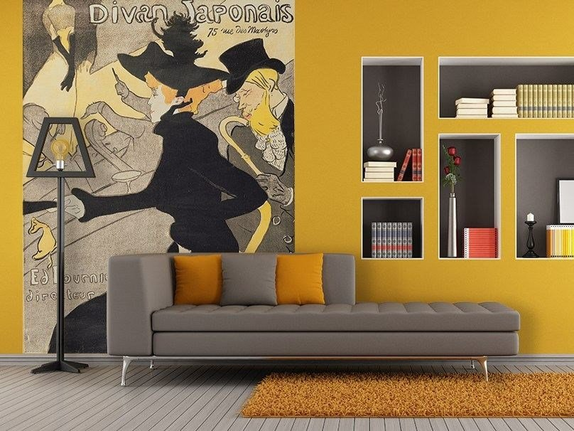 Artistic wallpaper Le Divan Japonais Henri de Toulouse-Laut - MyCollection.it