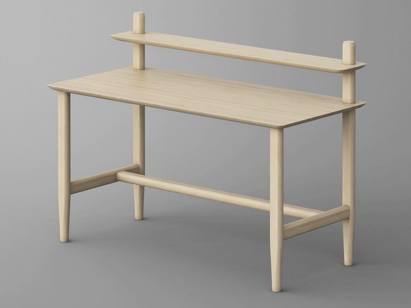 Solid wood secretary AETAS | Writing desk - vitamin design