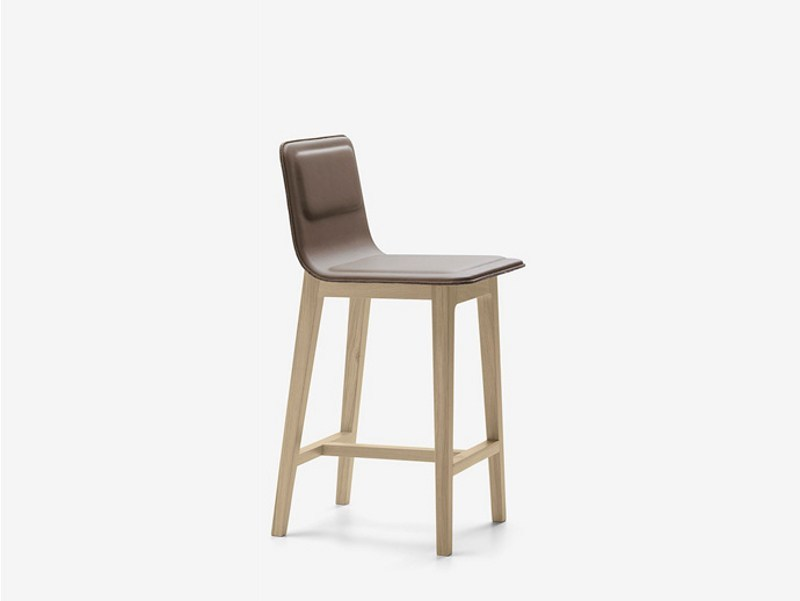Leather counter stool LAIA | Counter stool by ALKI