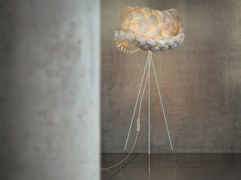 Handmade paper floor lamp THE BRIDE LARGE | Floor lamp by Mammalampa
