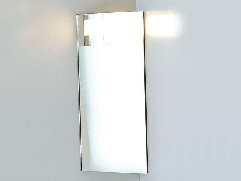 Specchio contenitore ad angolo con illuminazione integrata corner specchio con contenitore - Specchi contenitori per bagno ...