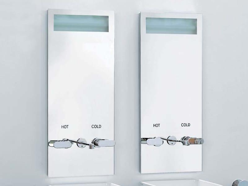 Miroir pour salle de bain lumineux hot cold miroir avec for Miroir salle de bain avec eclairage integre