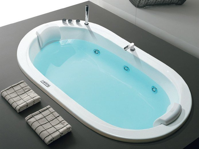 whirlpool oval built in bathtub oasy by hafro. Black Bedroom Furniture Sets. Home Design Ideas