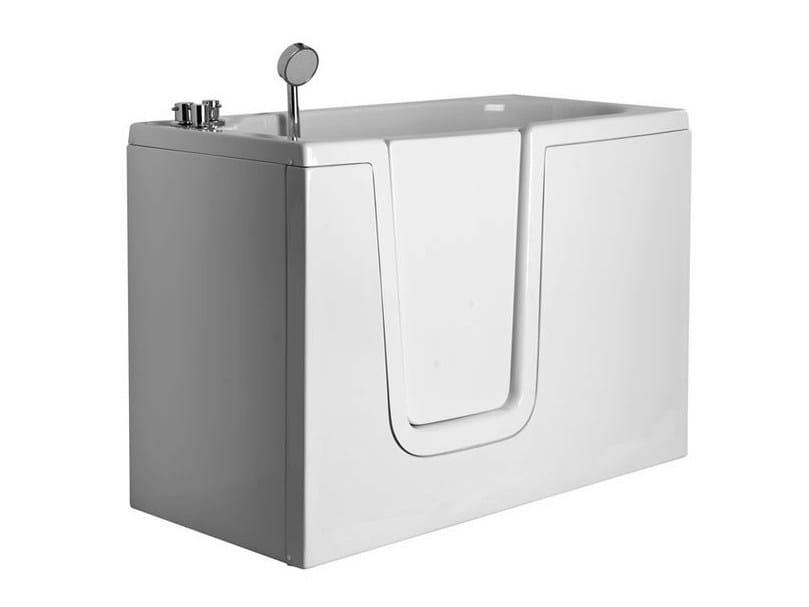 Vasca da bagno in vetroresina con porta bagnosicuro 650 - Vasca bagno con porta ...