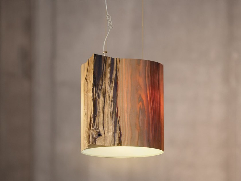 Handmade Wooden Lamps : Handmade wooden pendant lamp the wise one white by