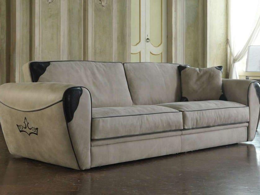Leather sofa KING - Formenti