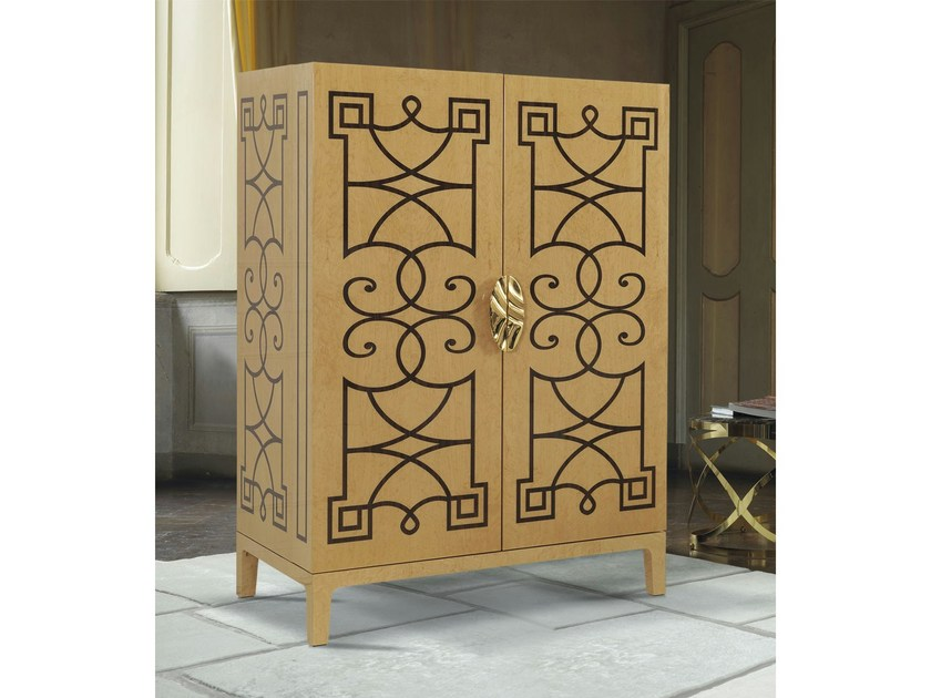Wooden highboard with doors VOJAGE by Formenti