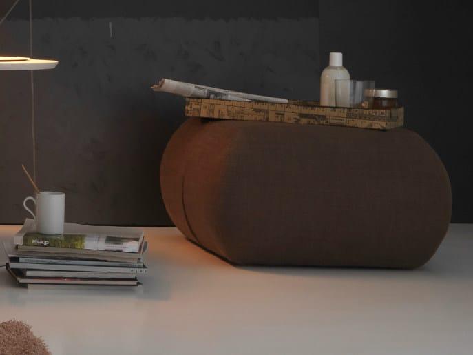 Upholstered pouf DINGHY | Pouf by Bolzan Letti