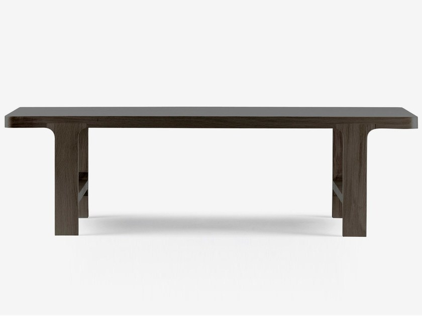 Low rectangular oak coffee table EMEA | Rectangular coffee table - ALKI