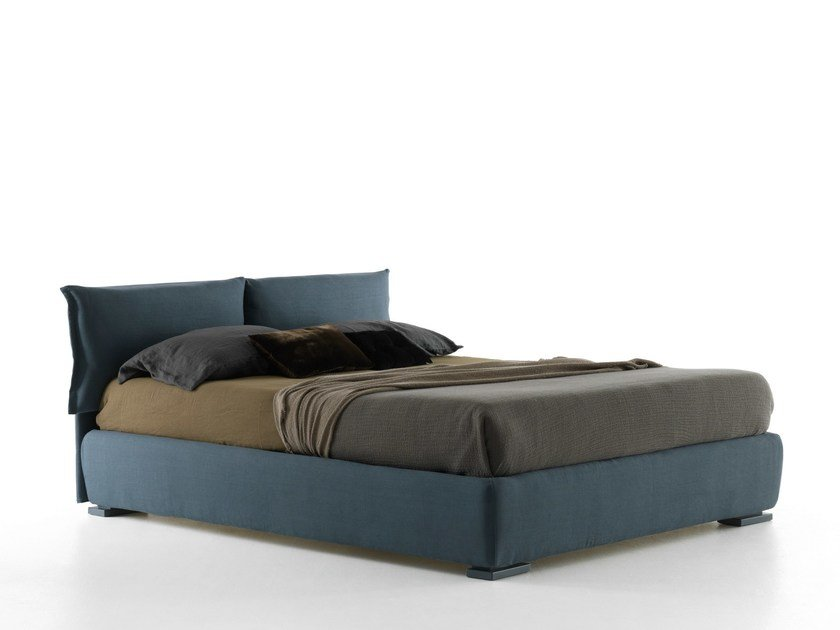 Double bed with removable cover IORCA by Bolzan Letti