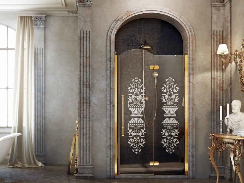 cabine de douche en niche avec porte battante grace by box co. Black Bedroom Furniture Sets. Home Design Ideas