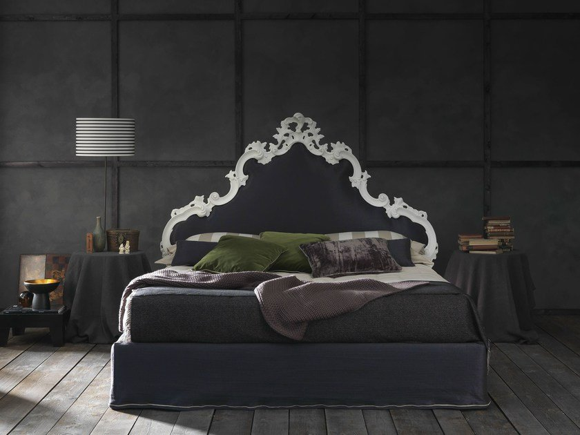Double bed with high headboard MADEMOISELLE CHIC - Bolzan Letti