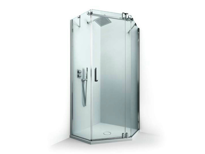 cabine de douche d 39 angle avec porte battante collection mirage by box co. Black Bedroom Furniture Sets. Home Design Ideas