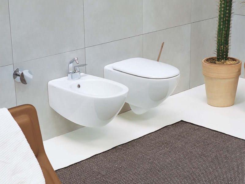 Bidet sospeso in ceramica spin bidet ceramica flaminia - Flaminia sanitari bagno ...