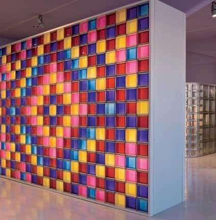 Mattone in vetro colorato new colour seves glassblock - Brique de verre couleur ...