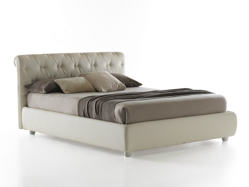 Double bed with tufted headboard SIENNA by Bolzan Letti