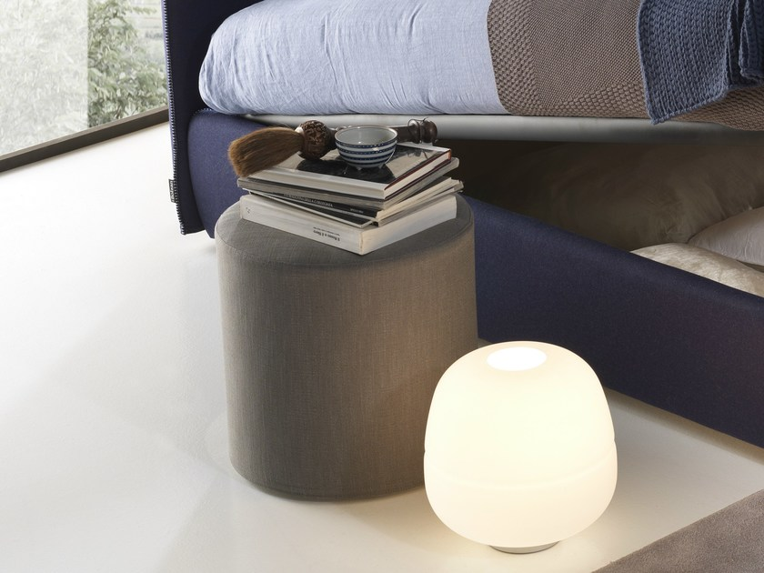 Upholstered pouf POUF TONDO - Bolzan Letti
