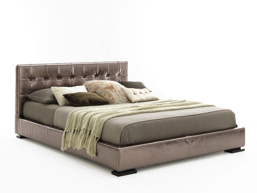 Double bed with tufted headboard VOGUE - Bolzan Letti
