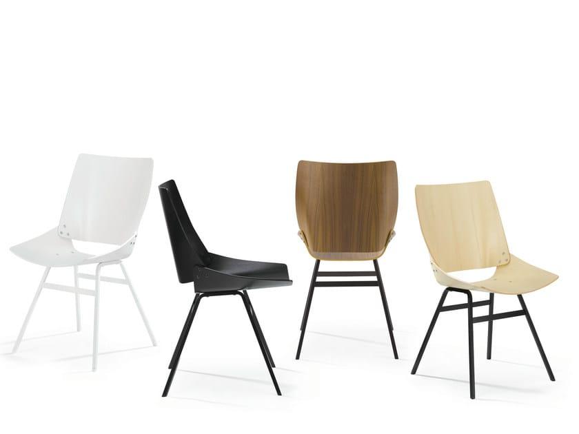 Wooden chair SHELL CHAIR - Rex Kralj
