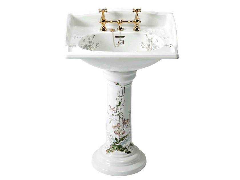 Pedestal washbasin VICTORIAN | basin Garden decor pedestal - GENTRY HOME