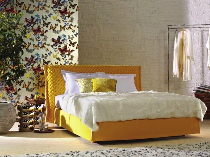 Bed with upholstered headboard LOFT-2 - Schramm Werkstätten