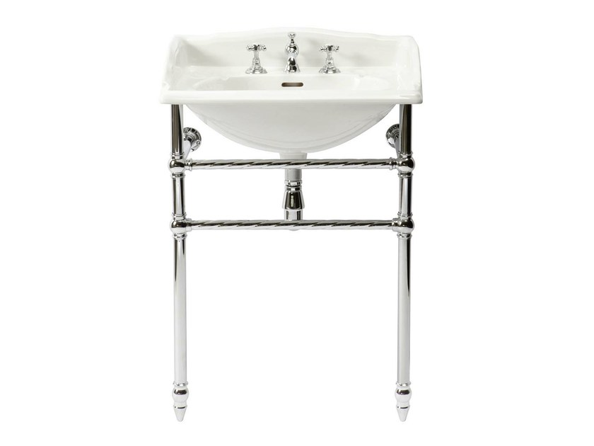 Console porcelain washbasin ROMANCE | basin console - GENTRY HOME