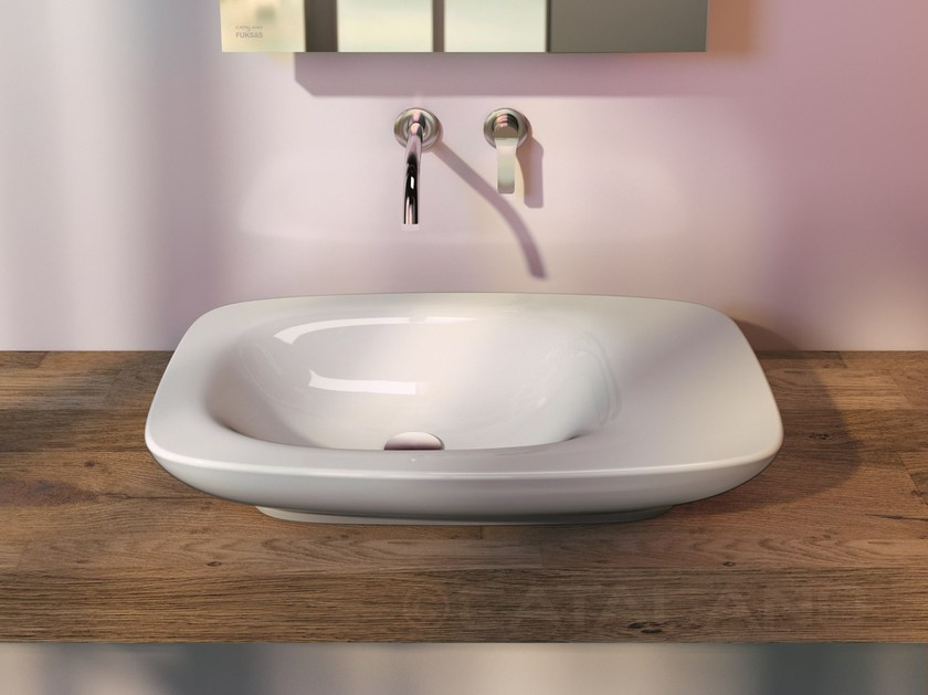 Countertop ceramic washbasin IMPRONTA 75 - CERAMICA CATALANO