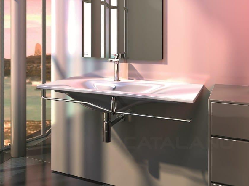 Wall-mounted ceramic washbasin IMPRONTA 100 - CERAMICA CATALANO