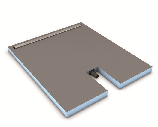 Flush fitting tiled extra flat shower tray FUNDO PLANO LINEA - Wedi Italia