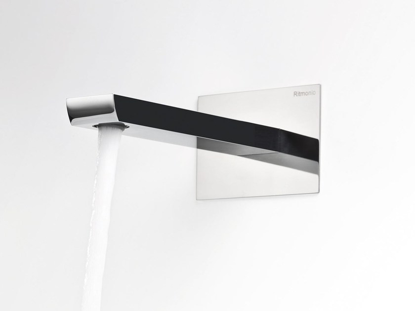 Wall-mounted bathtub spout with plate TWEET | Spout by RITMONIO