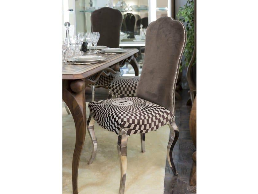 gepolsterter stuhl aus samt mit hoher r ckenlehne tullio kollektion dec glam casa gioiello by. Black Bedroom Furniture Sets. Home Design Ideas