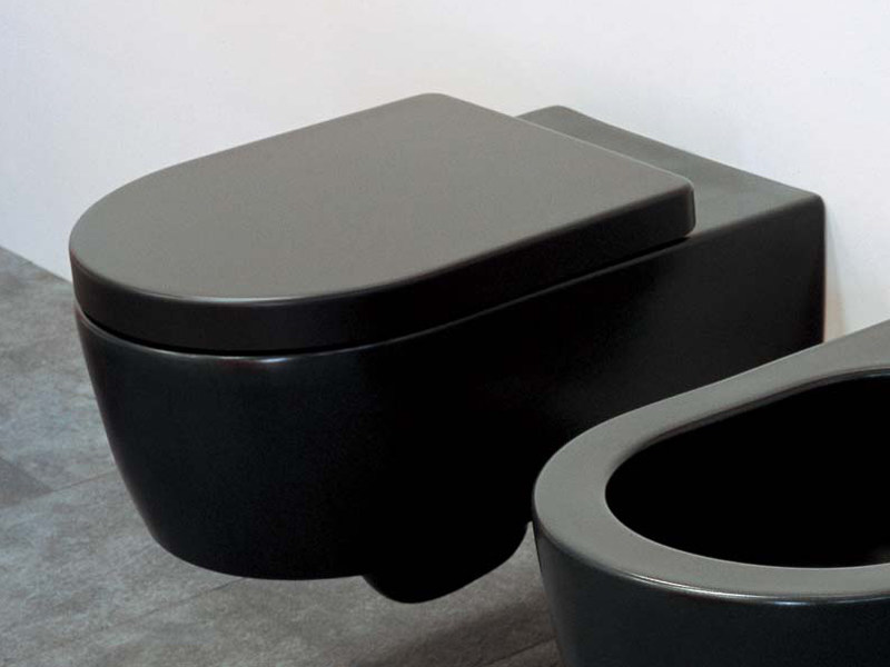black toilet bathroom design html with Link Wall Hung Ceramic Toilet Link Wall Hung Toilet Ceramica Flaminia on Link Wall Hung Ceramic Toilet Link Wall Hung Toilet Ceramica Flaminia besides 233 Concrete Gray Andesite Basalt Bathroom Vessel Sink Dune Moon also Diy Please Stay Seated Bathroom Sign furthermore Modern Bathroom With White Black And Gray Color 23 furthermore Shipping Container Apartments.