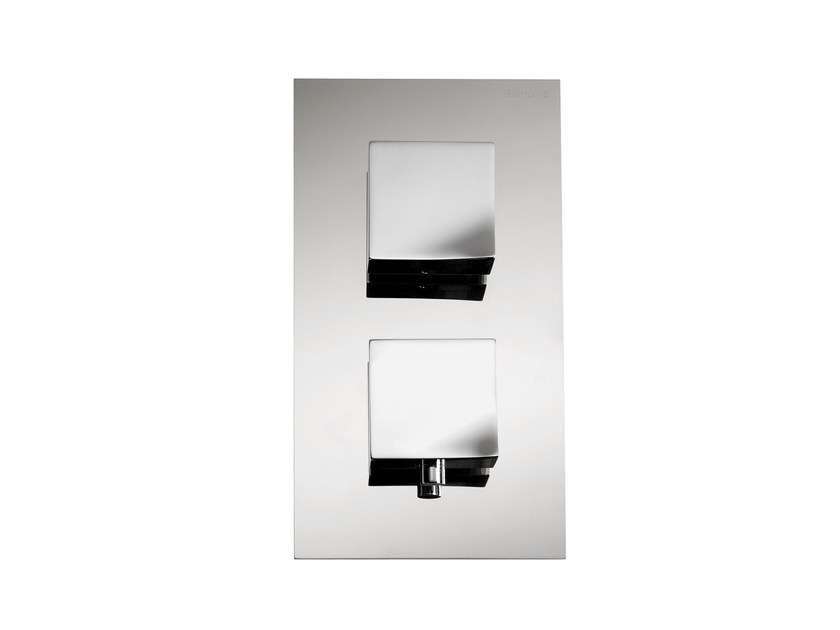 2 hole thermostatic shower mixer with plate TWEET | 2 hole thermostatic shower mixer - RUBINETTERIE RITMONIO