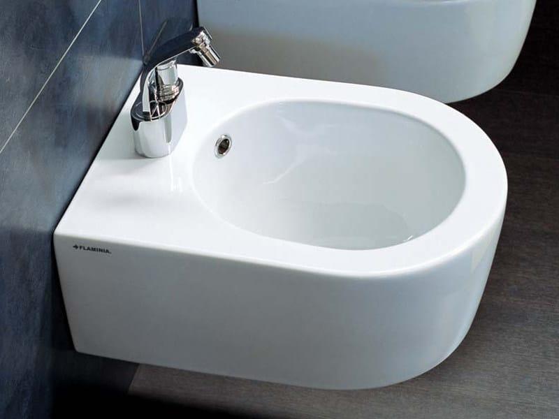 Bidet sospeso in ceramica mini link bidet sospeso - Flaminia sanitari bagno ...