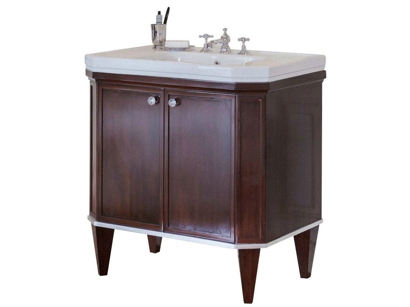 Single wooden vanity unit ADELAIDE - GENTRY HOME