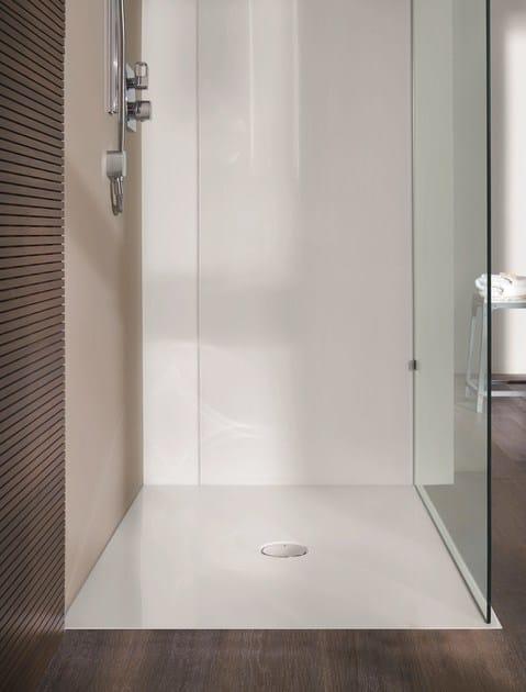 Piatto doccia filo pavimento rettangolare in acciaio - Piatto doccia a filo ...