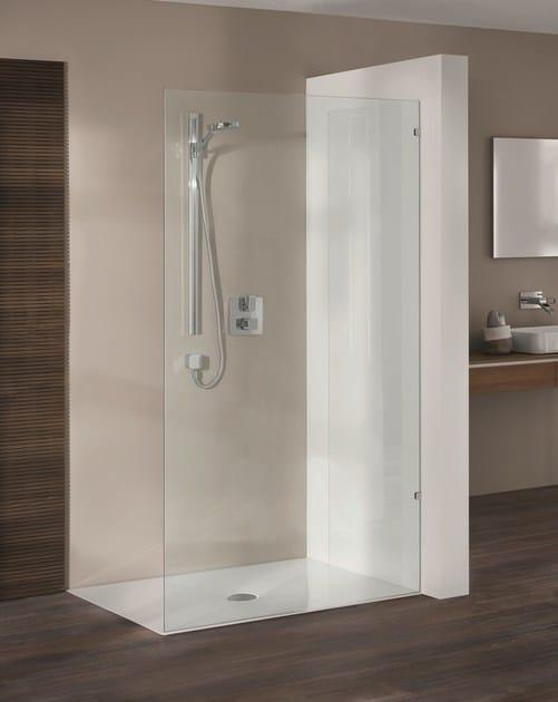 Piatto doccia filo pavimento rettangolare in acciaio for Piatto doccia a filo pavimento