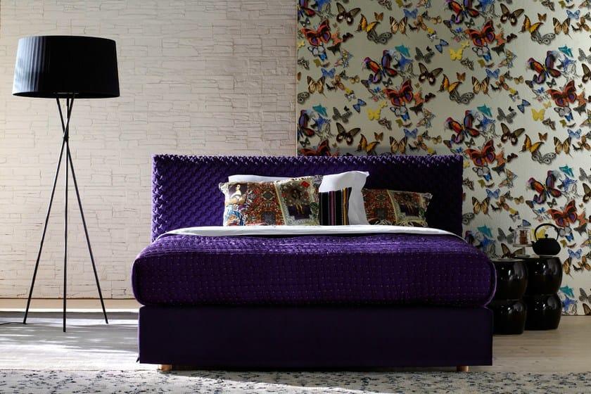Double bed with upholstered headboard CHILL-2 - Schramm Werkstätten