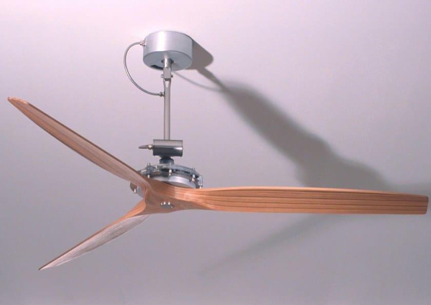 Ventilatore da soffitto in legno air boffi - Ventilatore da soffitto design ...