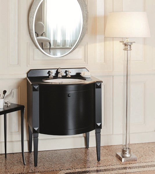 Classic style single vanity unit CHESTER ! Single Vanity unit Black - GENTRY HOME
