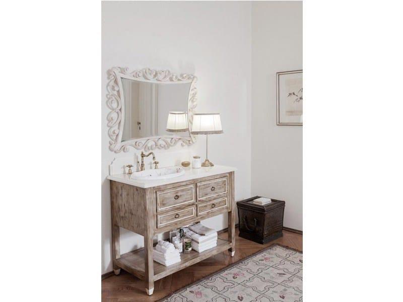 Consolle lavabo in legno in stile classico con cassetti dustin mobile bagno by gentry home - Consolle bagno classico ...