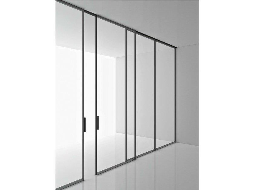 Tempered glass partition wall GREENE by Boffi