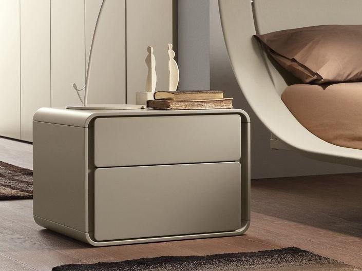 Contemporary style lacquered bedside table ICE | Bedside table - Presotto Industrie Mobili