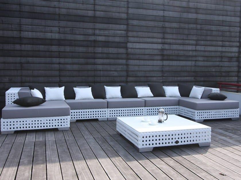 Sectional modular Sunbrella® garden sofa PORTO VECCHIO | Sectional sofa - Sérénité Luxury Monaco