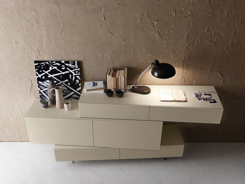 Contemporary style lacquered dresser I-NIGHT SYSTEM INCLINART | Dresser - Presotto Industrie Mobili