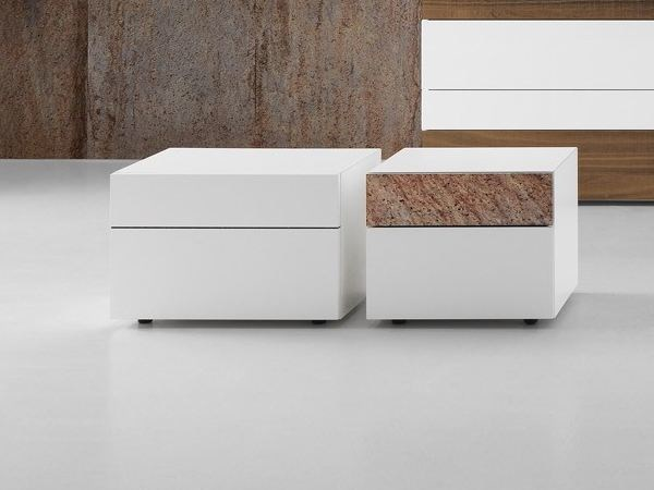 Lacquered bedside table with drawers WING | Bedside table - Presotto Industrie Mobili