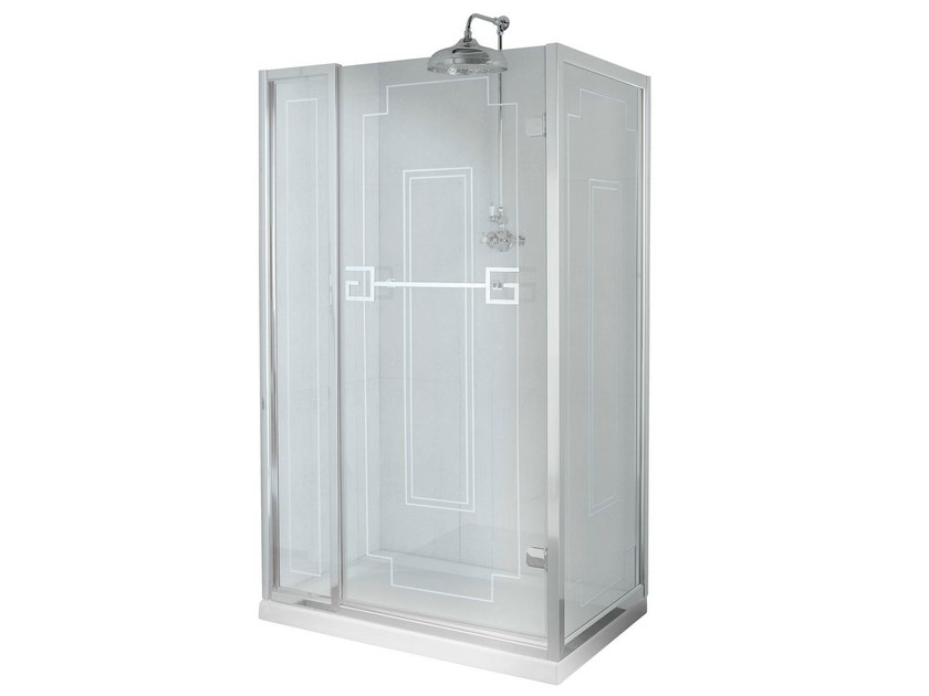 Shower enclosure with door and fixed panel ATHENA | Shower cabin with hinged door - GENTRY HOME